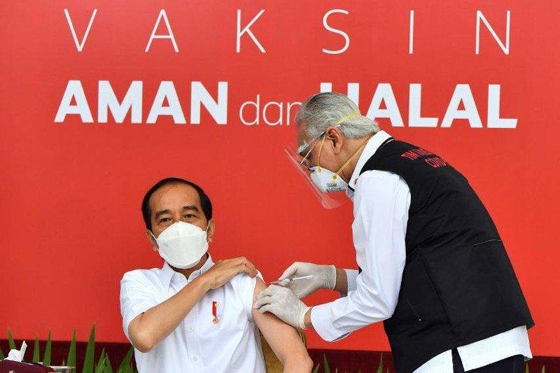 Sah! Presiden Jokowi Jalani Vaksinasi COVID-19