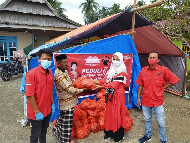 PIA DPR PDI Perjuangan & BAGUNA Sulbar Aksi Peduli Gempa