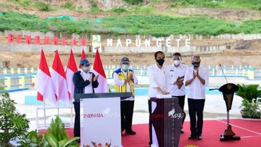 Presiden Resmikan Bendungan Napun Gete di Sikka