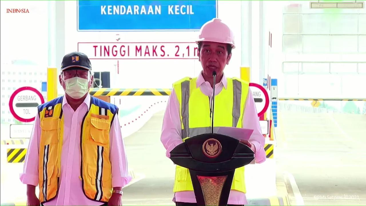 Mantap! Presiden Jokowi Resmikan Dua Ruas Jalan Tol