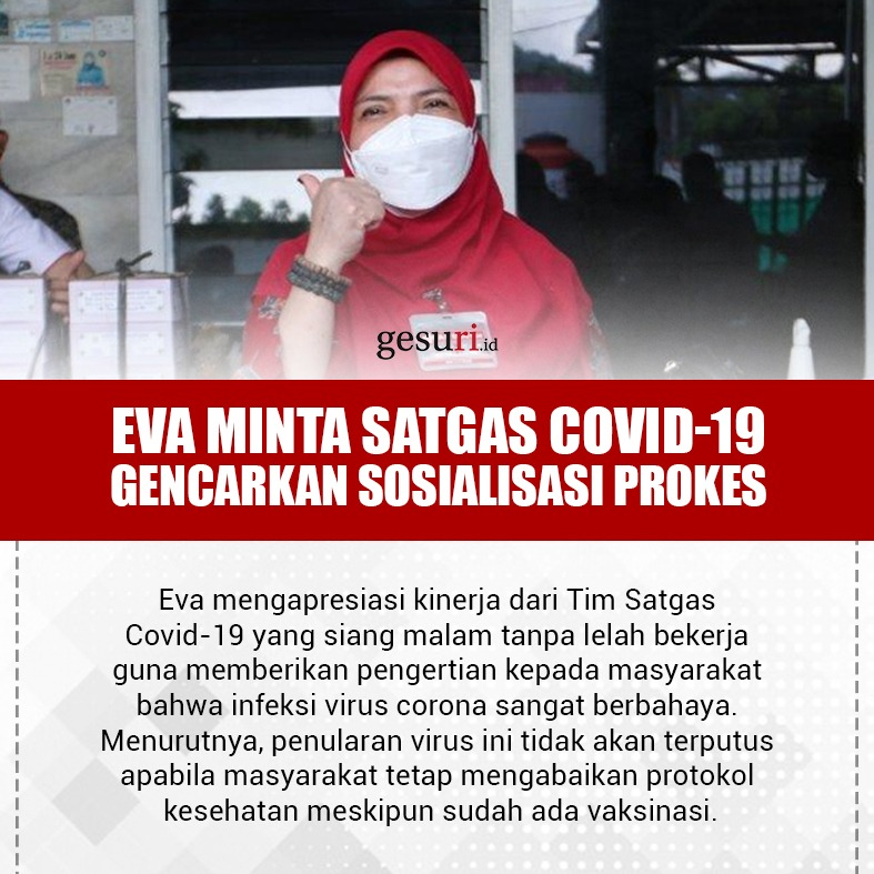 Eva Minta Satgas Covid-19 Gencarkan Sosialisasi Prokes