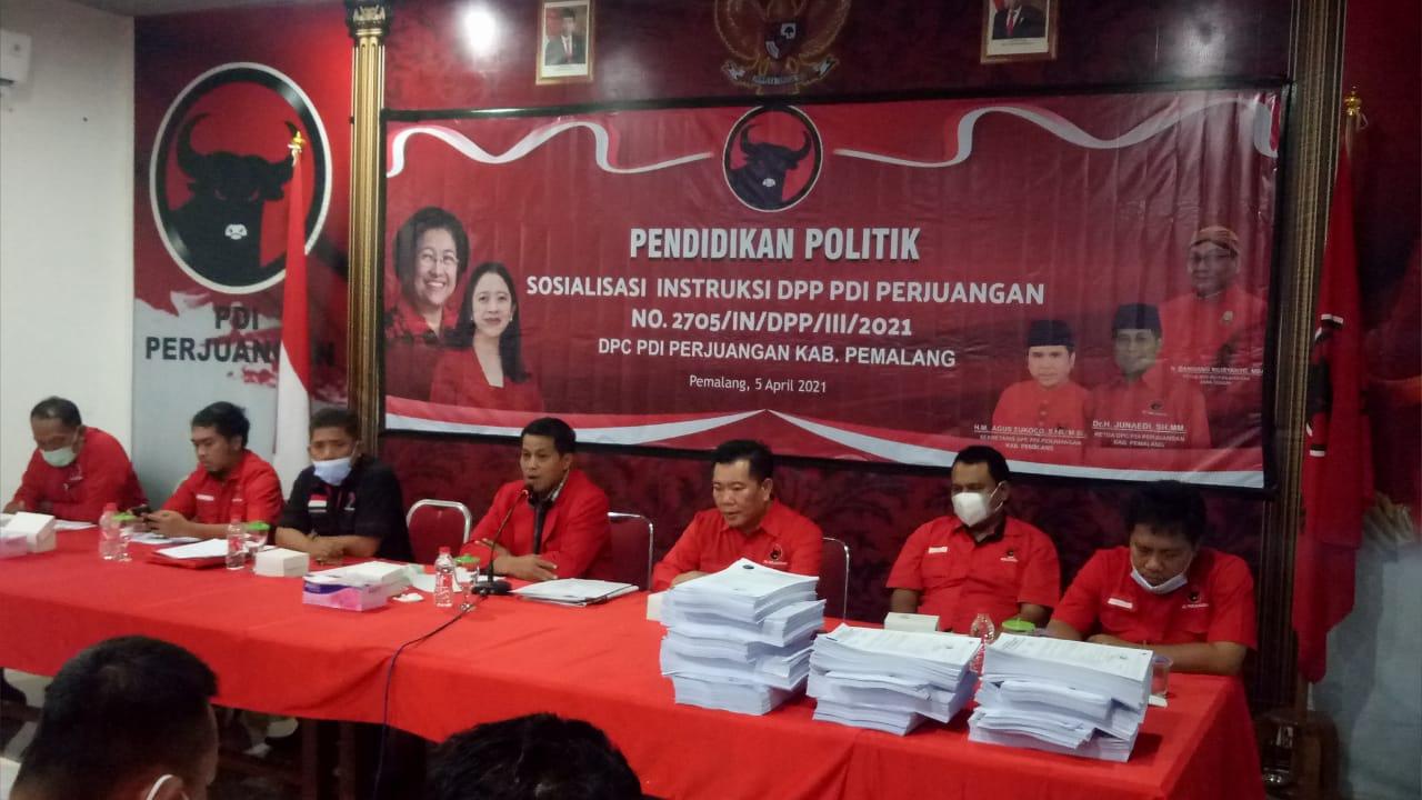 DPC PDI Perjuangan Pemalang Gelar Pendidikan Politik