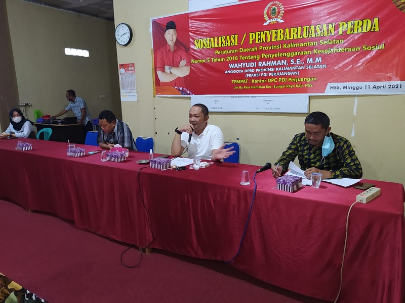 Wahyudi Rahman Sosialisasi Perda Kesejahteraan Sosial