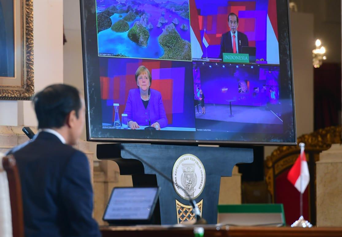 Jokowi & Kanselir Jerman Buka Hannover Messe 2021