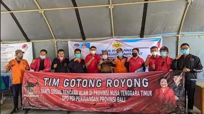 Fraksi Banteng Bali Terjun Bantu Korban Bencana NTT!