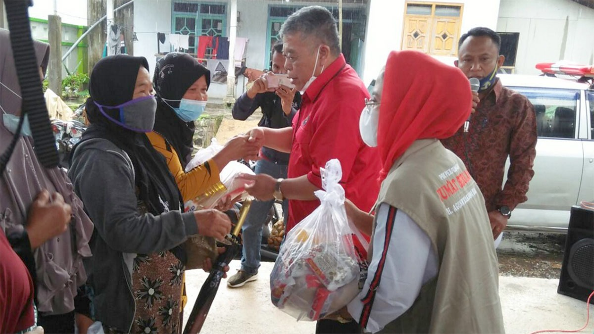Banteng Jatim Berikan Bantuan ke Korban Gempa Lumajang