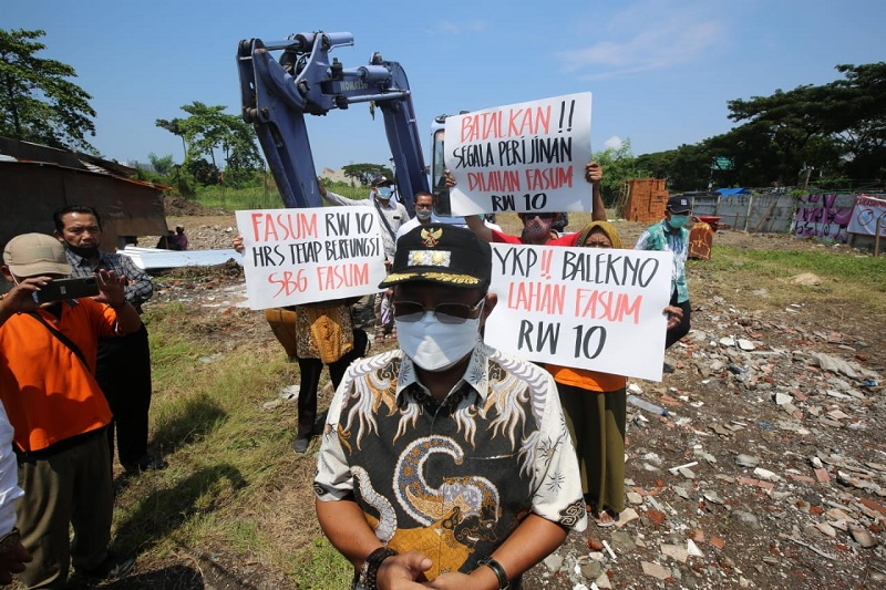Armudji Cek Lahan Fasum, Warga Rungkut Kidul Apresiasi
