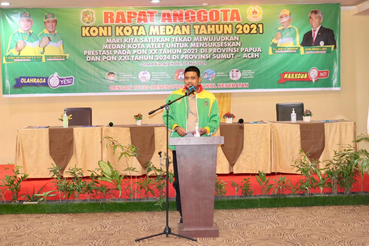 Bobby Buka Rapat Anggota KONI Kota Medan