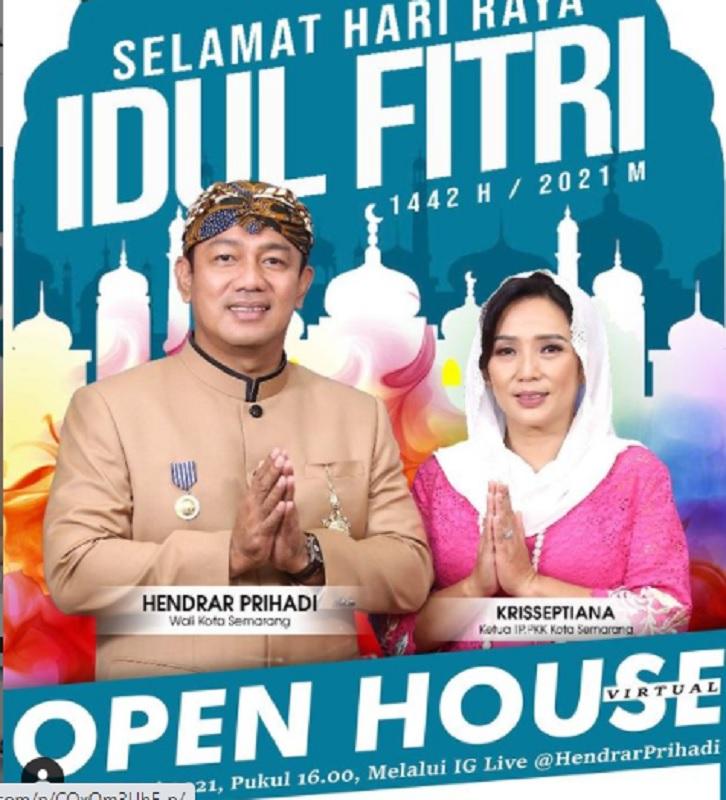 Halal Bihalal Virtual Saja, Hendrar: Open House Pun Virtual