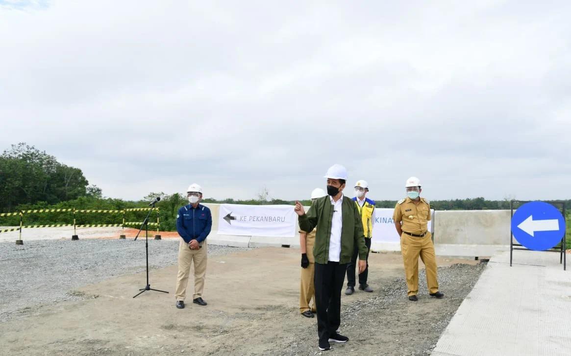 Presiden Tinjau Pembangunan Jalan Tol Pekanbaru-Bangkinang
