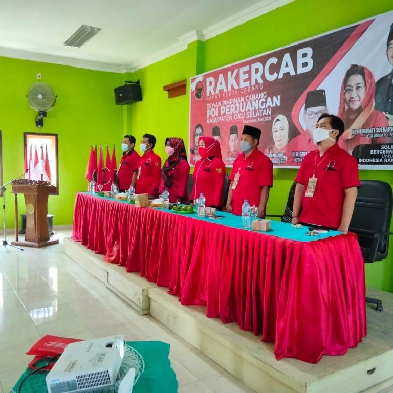 Perkuat Konsolidasi, Banteng OKU Selatan Gelar Rakercab