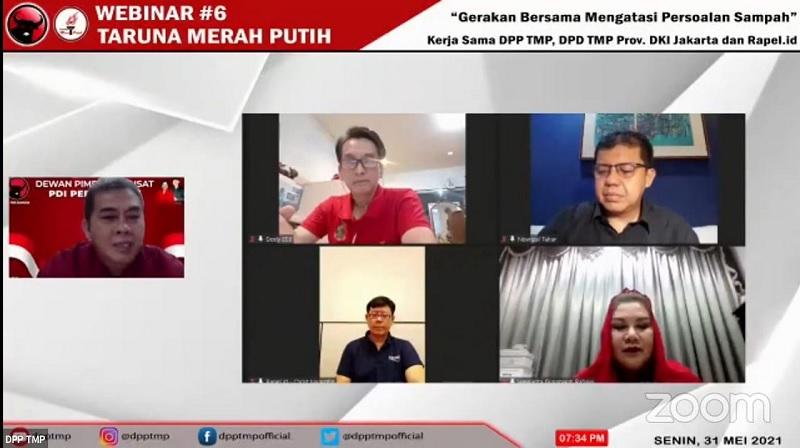 Bulan Bung Karno, TMP Gelar Webinar Angkat Isu Soal Sampah