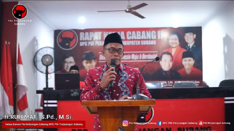 Rakercab II Banteng Subang, Ruhimat: SukseskanSubang Jawara