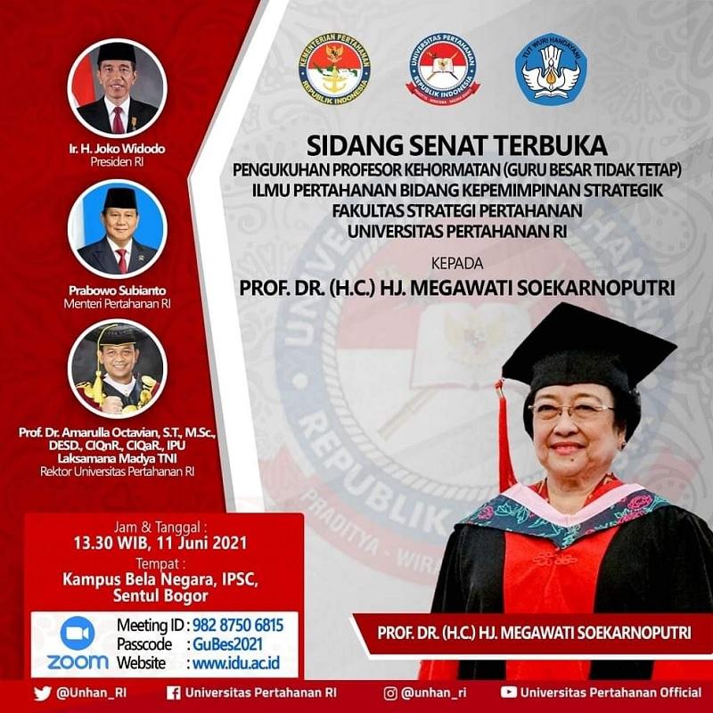 UNHAN Akan Kukuhkan Gelar Profesor Kehormatan Bagi Megawati