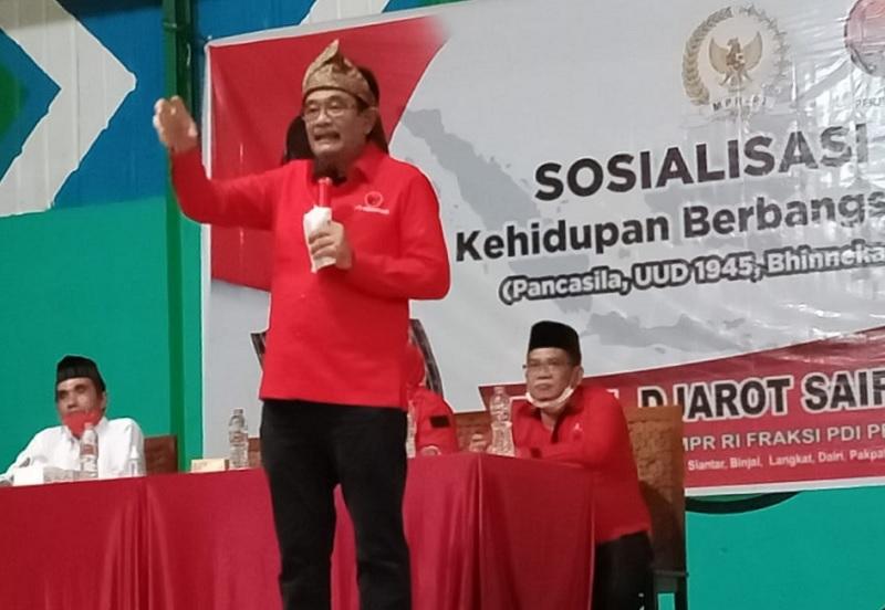 Sosialisasi 4 Pilar di Langkat, Djarot Soroti Guru Honorer