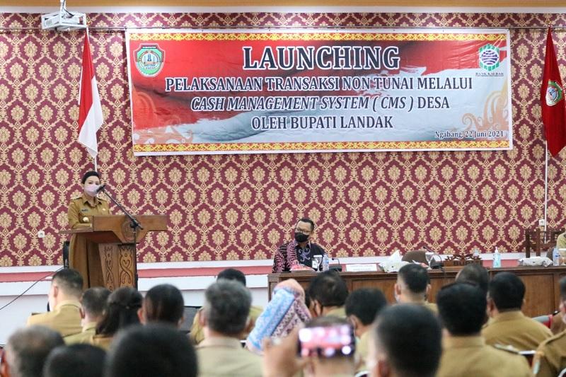 Launching CMS Desa, Karolin: Pengelolaan Keuangan Lebih Baik
