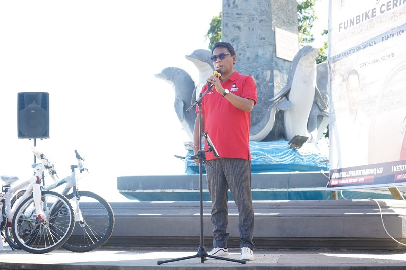 Gowes Bersama, Kariyasa Dorong Bali Dibuka Berbasis Prokes