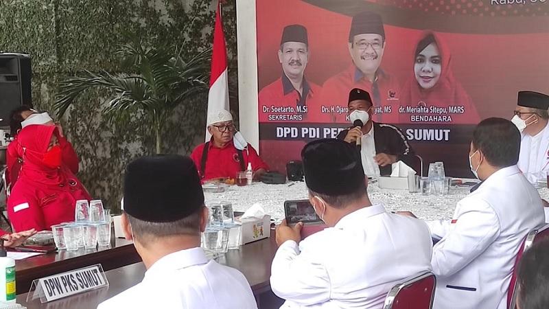 Banteng Sumut Ajak PKS Bangun Iklim Politik Lebih Baik