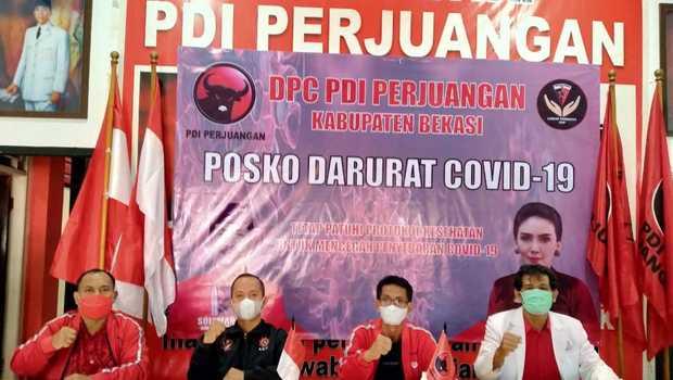 Kantor PDI Perjuangan Bekasi Jadi Posko Darurat COVID-19