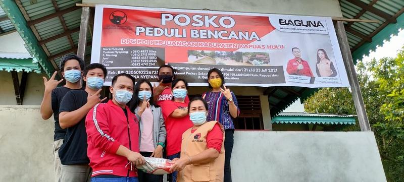 BAGUNA Kalbar Salurkan Bantuan Bencana Banjir Kapuas Hulu