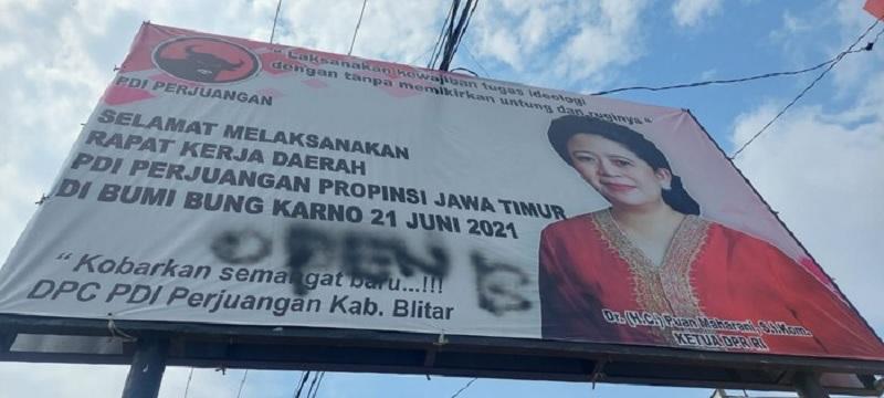 PDI Perjuangan Laporkan Aksi Pencoretan Baliho Puan Maharani