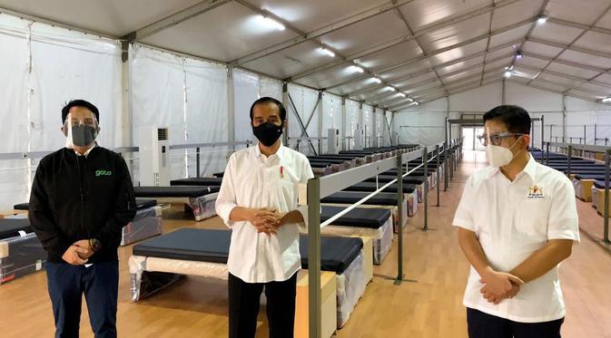 Presiden Tinjau Faskes Rumah Oksigen Gotong Royong