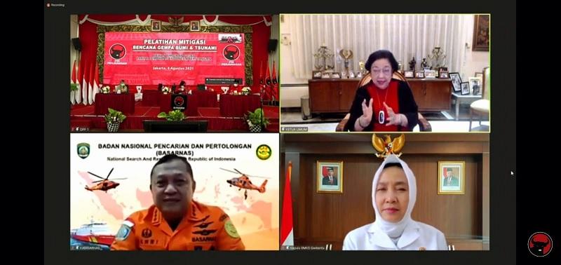 Megawati Resmikan Sistem Multi-Bahaya Hidrometeorologi