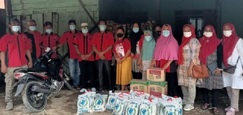 BAGUNA Labuhanbatu Bantu Warga Terdampak Banjir di Dua Desa