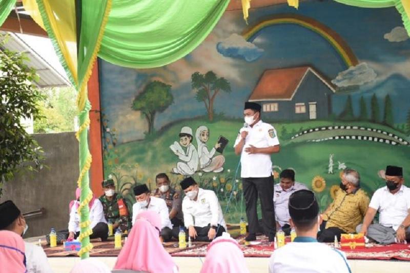 Bupati Sergai Peletakan Batu Ruang Kelas Baru SD An Nafis