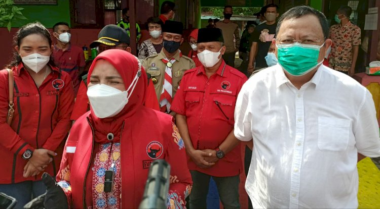 Sudin Tinjau Vaksinasi Massal di Kota Bandar Lampung