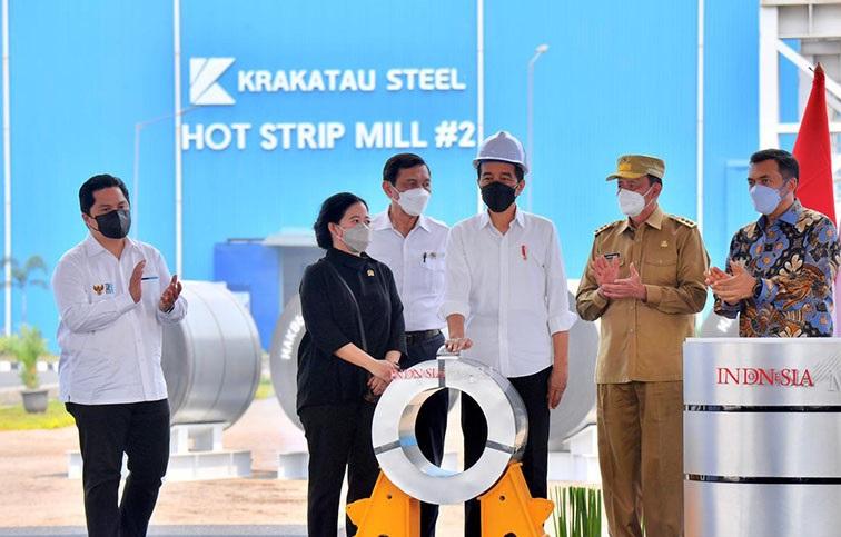 Presiden Resmikan Pabrik Canggih PT Krakatau Steel