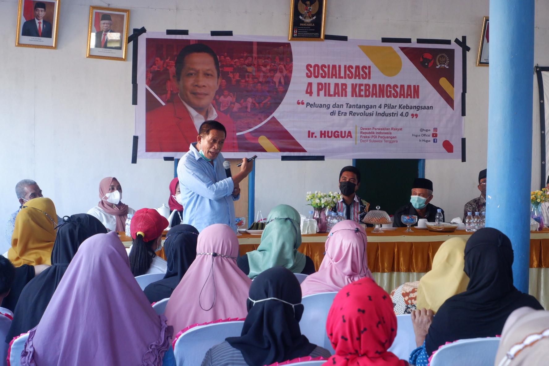Sosialisasi Empat Pilar, Hugua Serukan Persatuan & Keseatuan