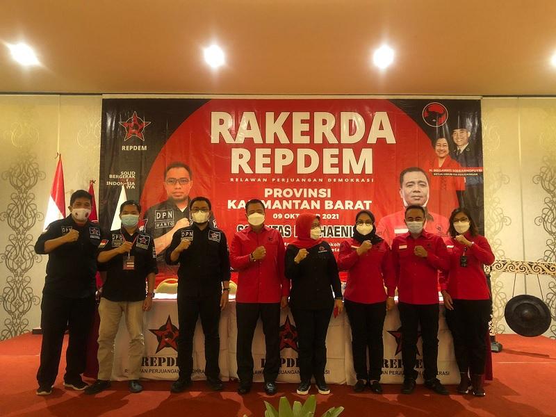 Rakerda Perdana REPDEM Kalbar, Lasarus Ajak Milenial Gabung