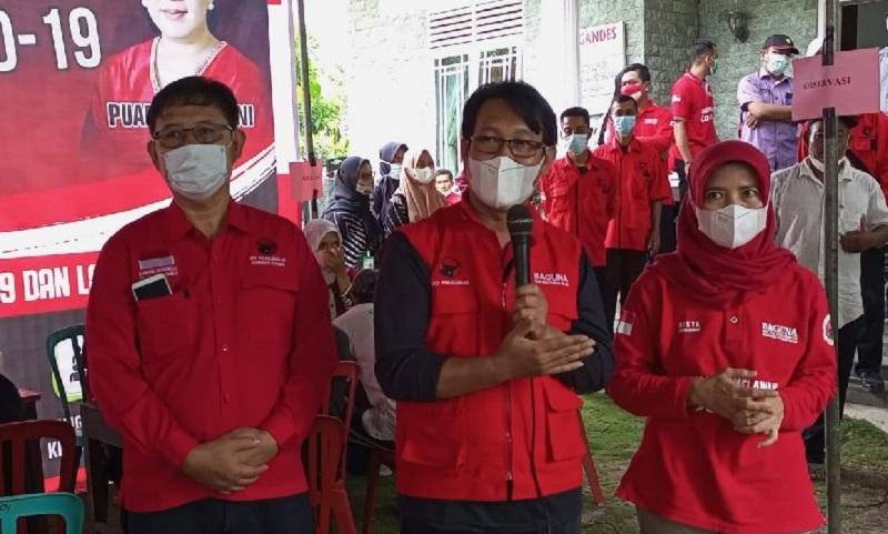 Rumah Ketua Fraksi Banteng Kebumen Jadi Giat Vaksinasi