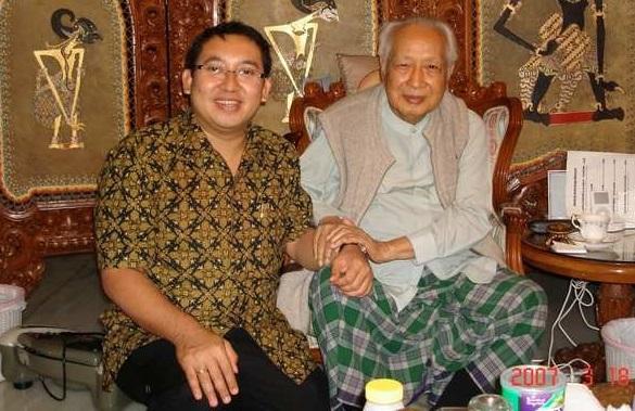 Fadli Zon saat bersama Soeharto